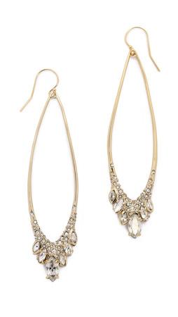 Alexis Bittar Jagged Marquis Teardrop Earrings - Gold Multi