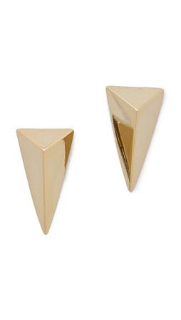 Alexis Bittar Pyramid Earrings - Gold