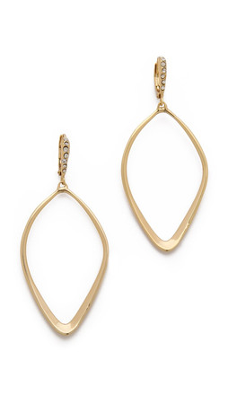 Alexis Bittar Sculpted Aura Teardrop Earrings - Gold