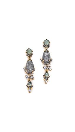 Alexis Bittar Shadow Star Earrings - Blue/Gold