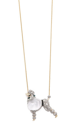 Alexis Bittar Strolling Poodle Pendant Necklace - Clear Multi