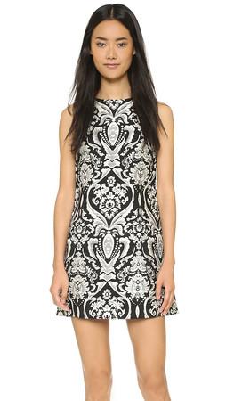 Alice + Olivia Clyde Shift Dress - Black/White