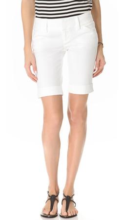 Alice + Olivia Cuffed Bermuda Shorts - White