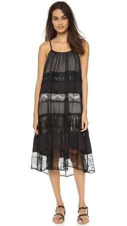 Alice + Olivia Dejas Pleated Trapeze Dress - Black