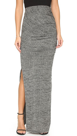 Alice + Olivia Octavia Fitted Maxi Skirt - Grey Multi