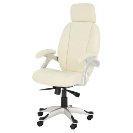 Alphason Designs Bentley Cream Leather Faced High Back Executive Chair