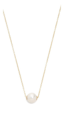 Amber Sceats Solo Necklace - Gold/Pearl