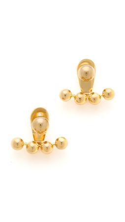 Amber Sceats Sphere Jacket Earrings - Gold