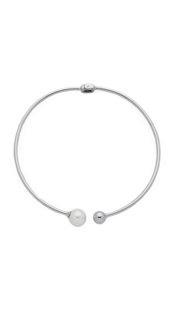 Amber Sceats The Bentley Necklace - Silver/Pearl