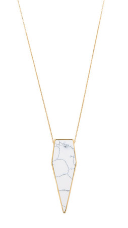 Amber Sceats Zephyr Necklace - White Marble/Gold