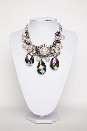 Anita Pearl Multi Coloured Gem Necklace