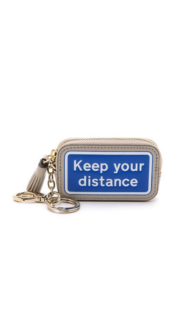 Anya Hindmarch Keep Your Distance Bag Charm - Grey White