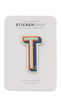 Anya Hindmarch Leather Letter Stickers - T