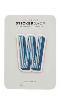 Anya Hindmarch Leather Letter Stickers - W
