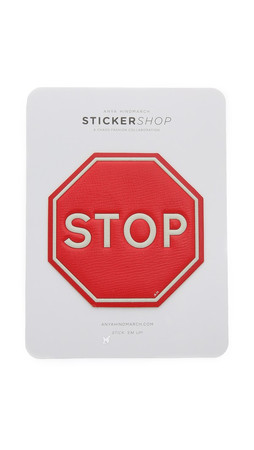 Anya Hindmarch Oversized Stop Sign Sticker - Bright Red