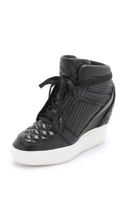 Ash Azimut Wedge Sneakers - Black