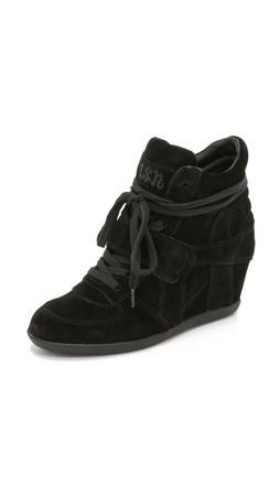 Ash Bowie Wedge Sneakers - Black