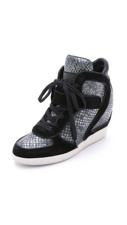 Ash Brendy Wedge Sneakers - Black