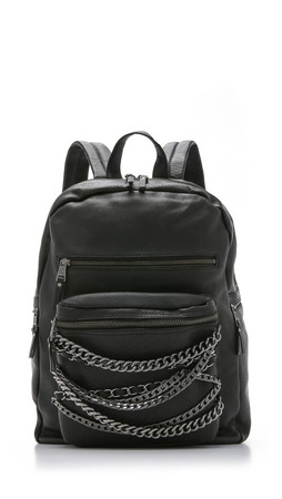 Ash Domino Chain Backpack - Black
