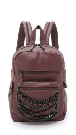 Ash Domino Small Backpack - Dark Wine