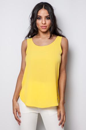Ashley Yellow Chiffon Vest Top