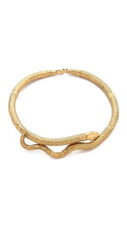 Aurelie Bidermann Gold Articulated Snake Necklace - Gold