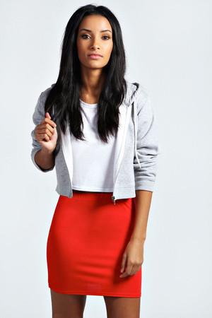 Basic Bodycon Mini Skirt red