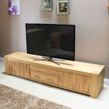Baumhaus Atlas Solid Oak TV Cabinet