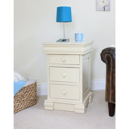 Baumhaus Cadence Bedside Cabinet with Four Drawers in cream