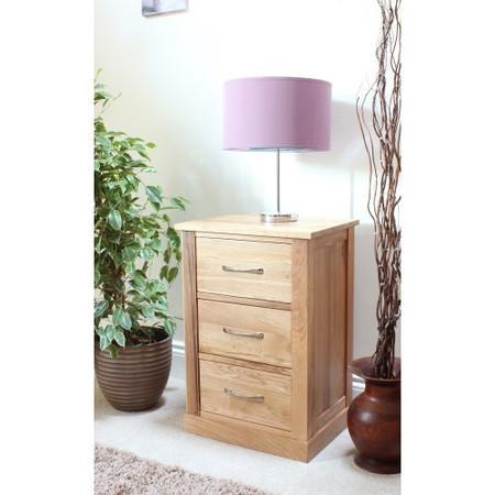baumhaus mobel solid oak 3 drawer bedside table baumhaus mobel solid oak corner