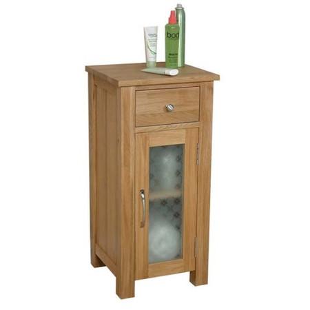 Baumhaus Mobel Solid Oak Glazed Bathroom Cabinet