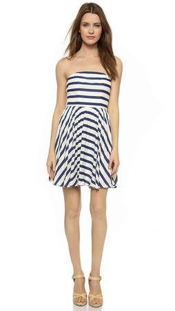Bb Dakota Aleta Striped Dress - Navy