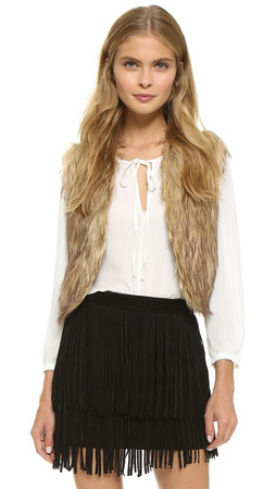 Bb Dakota Jack By Bb Dakota Azza Faux Fur Vest - Multi