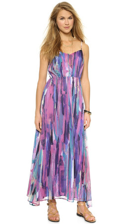 Bb Dakota Jack By Bb Dakota Barby Paintstrokes Maxi Dress - Multi
