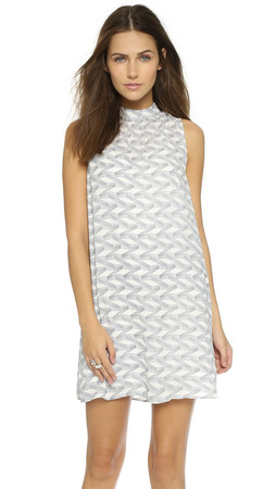 Bb Dakota Cami Trails Printed Dress - Dirty White