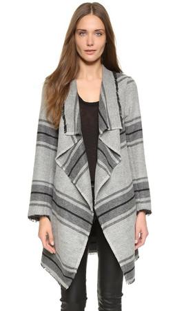 Bb Dakota Chris Blanket Coat - Black