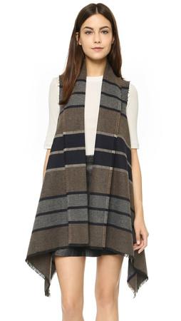 Bb Dakota Duncan Wool Blanket Vest - Black