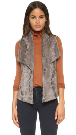 Bb Dakota Jack By Bb Dakota Elektra Faux Fur Vest - Grey