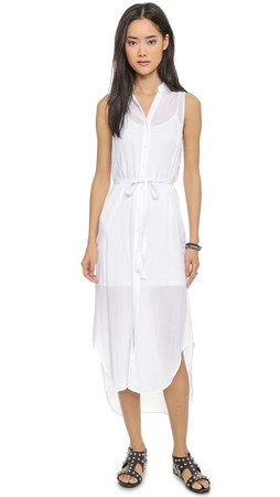Bb Dakota Emmaline Midi Dress - Optic White