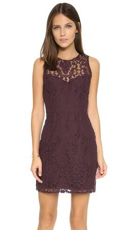 Bb Dakota Gabby Lace Dress - Blackberry