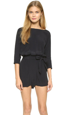 Bb Dakota Heather Romper - Black