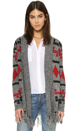 Bb Dakota Jack By Bb Dakota Lawson Fringe Cardigan - Multi