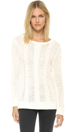 Bb Dakota Jenson Cable Sweater - Ivory