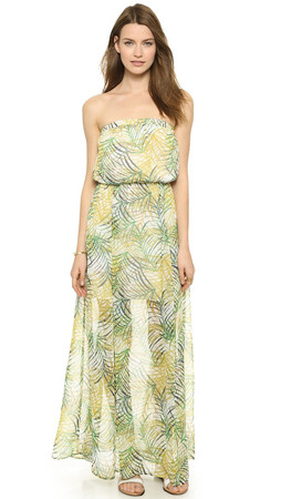 Bb Dakota Piper Cool Grass Maxi Dress - Multi