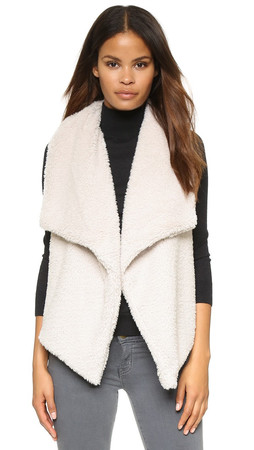 Bb Dakota Rennie Sweater Vest With Faux Fur - Ivory