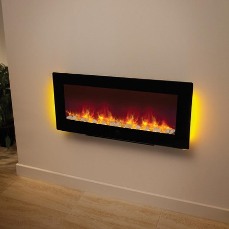 Be Modern Amari Electric Fireplace in Black