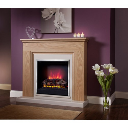 Be Modern Stanton Oak Finish Electric Fireplace Suite