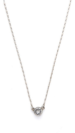 Ben-Amun Crystal Pendant Necklace - Clear/Silver