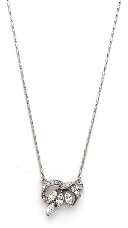 Ben-Amun Crystal Pendant Necklace - Silver/Clear