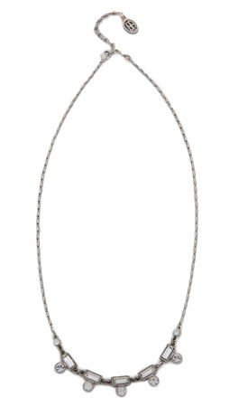 Ben-Amun Crystal Station Necklace - Clear